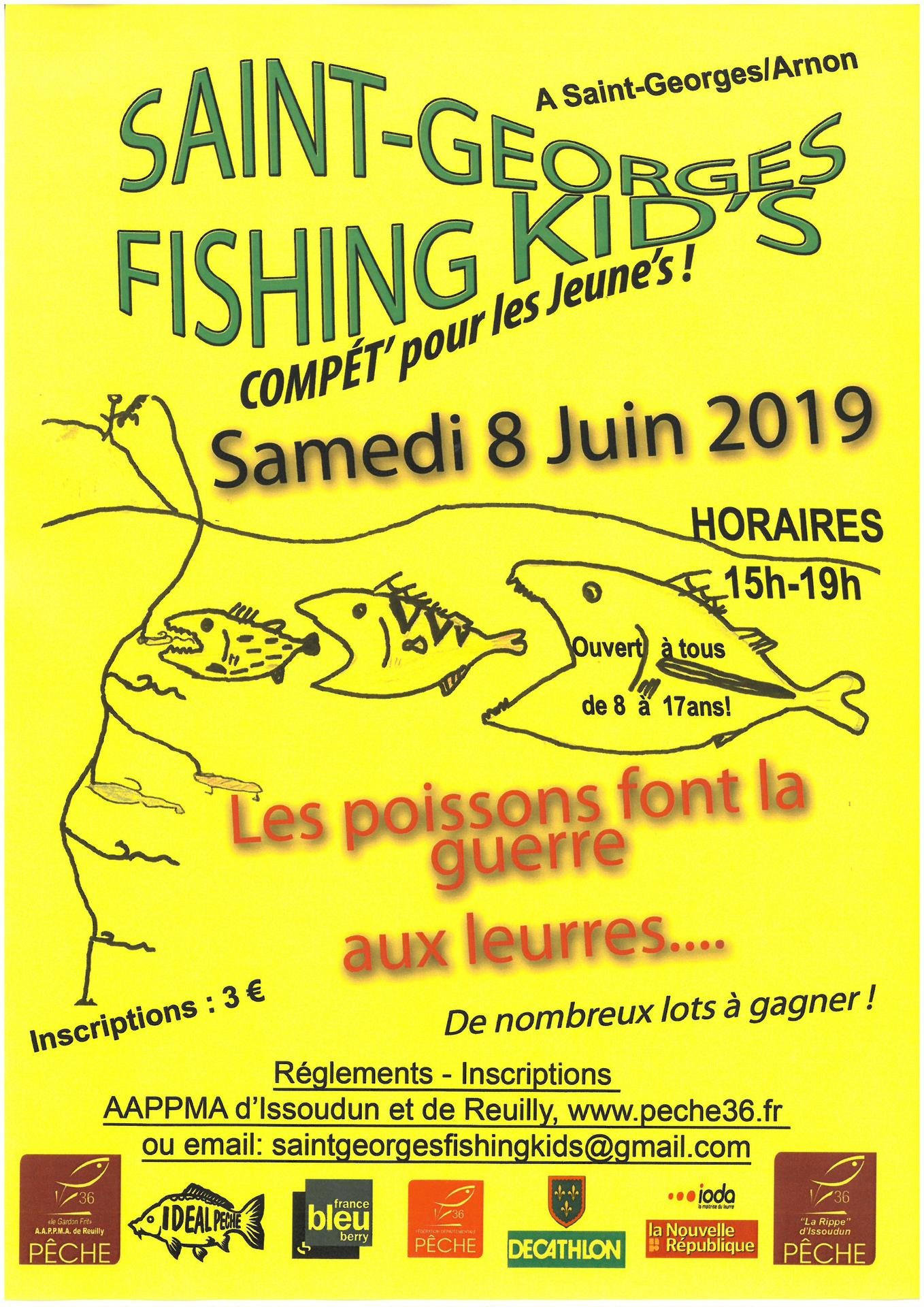 affiche fishing kids